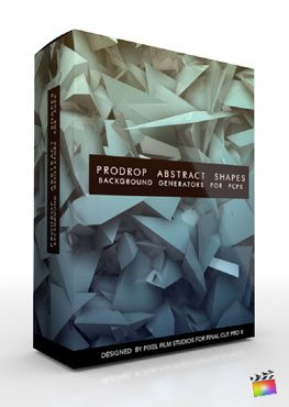 Final Cut Pro X Plugin ProDrop Abstract Shapes from Pixel Film Studios