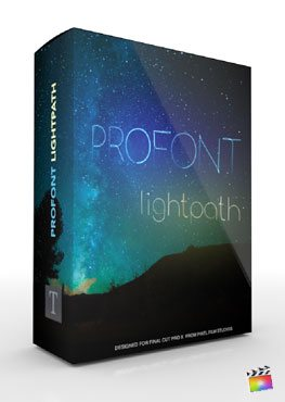 Final Cut Pro X Plugin Production Package ProFont Lightpath from Pixel Film Studios