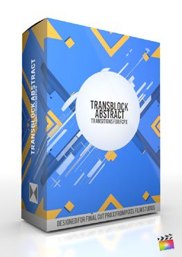Final Cut Pro X Plugin TransBlock Abstract from Pixel Film Studios