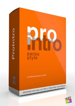 Final Cut Pro X Plugin ProIntro Swiss Style from Pixel Film Studios
