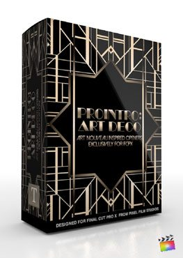 Final Cut Pro X Plugin ProIntro Art Deco from Pixel Film Studios