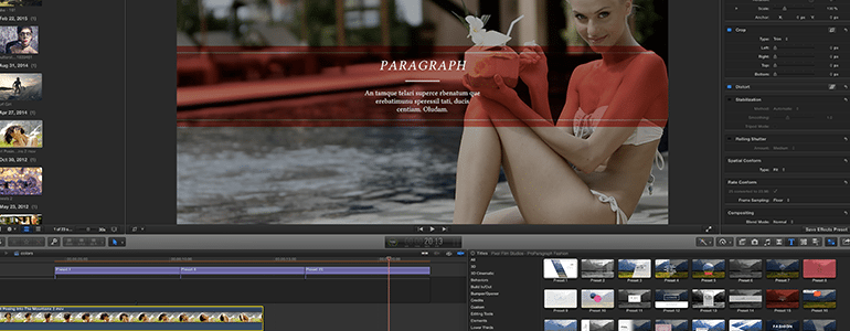 Final Cut Pro X Plugin ProParagraph: Fashion from Pixel Film Studios