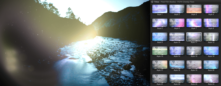 Final Cut Pro X Plugin FCPX Overlay Flare