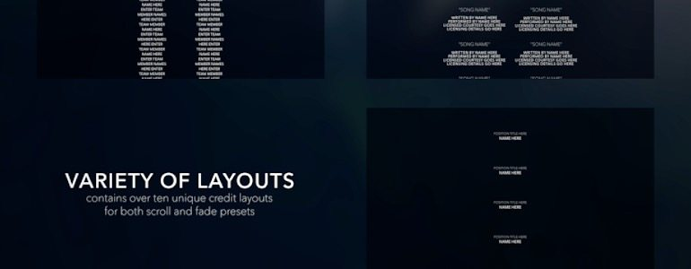 Professional - Modular Closing Credits for Final Cut Pro X
