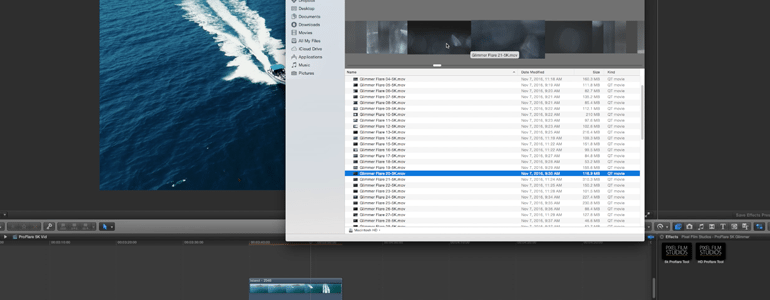 Final Cut Pro X Plugin ProFlare 5K Glimmer