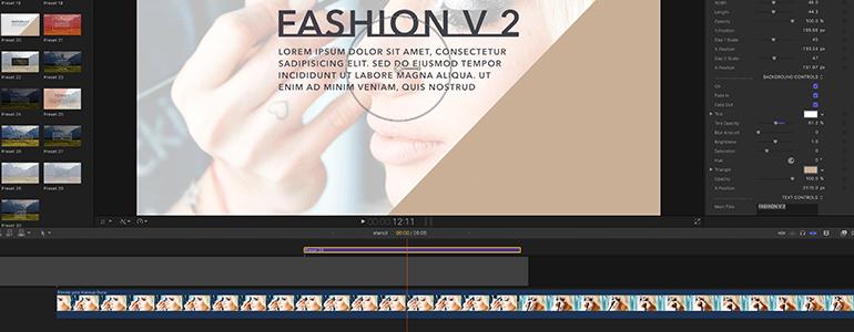 Final Cut Pro X Plugin ProParagraph: Fashion Fashion Volume 2 from Pixel Film Studios