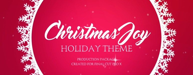 Holiday Production Package for Final Cut Pro X from Pixel Film Studios
