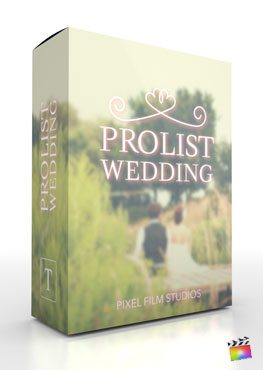 Final Cut Pro X Plugin ProList Wedding from Pixel Film Studios