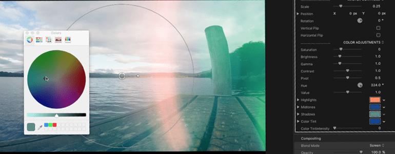 Final Cut Pro X Plugin ProFlare 5K Color Shift