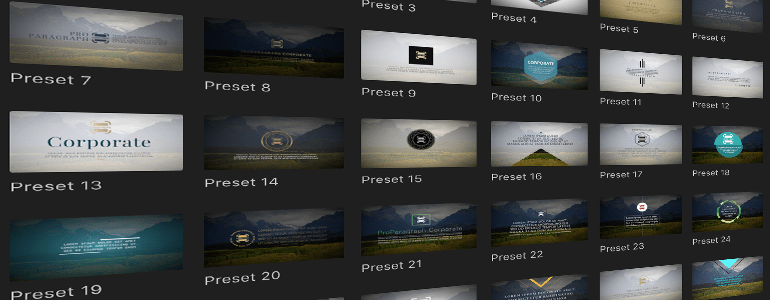 Final Cut Pro X Plugin ProParagraph: Corporate from Pixel Film Studios