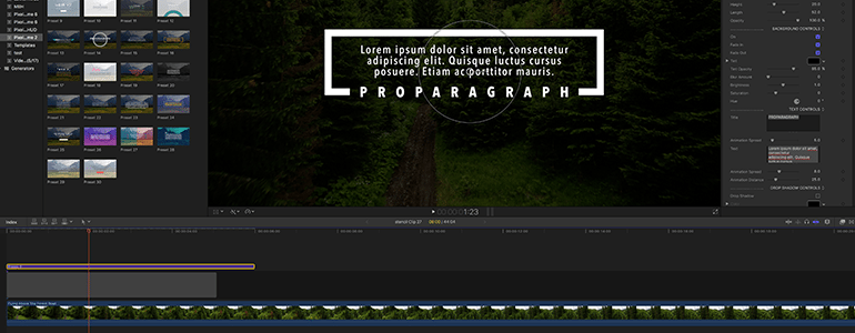 Final Cut Pro X Plugin ProParagraph: Web Volume 2 from Pixel Film Studios
