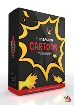 Final Cut Pro X Plugin TransAction Cartoon from Pixel Film Studios