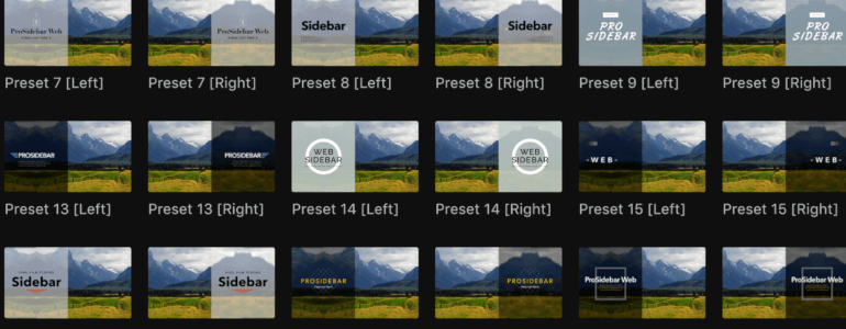 Final Cut Pro X Plugin Prosidebar Corporate from Pixel Film Studios