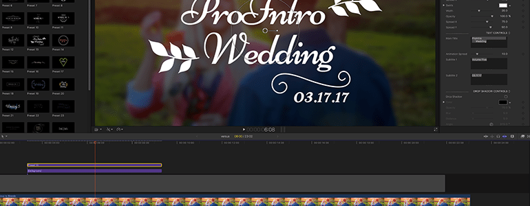 Final Cut Pro X Plugin ProIntro Web Wedding Volume 5 from Pixel Film Studios