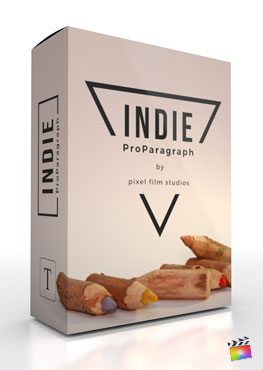 Final Cut Pro X Plugin ProParagraph Indie from Pixel Film Studios