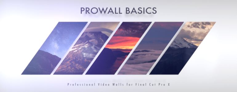 Professional Video Wall Templates for Final Cut Pro X