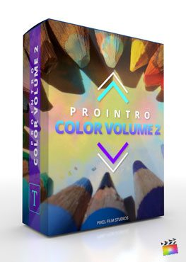 Final Cut Pro X plugin ProIntro: Color Volume 2 from Pixel Film Studios