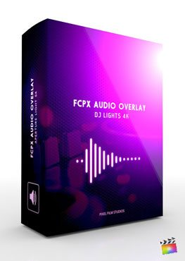 FCPX Audio Overlay DJ Lights 4K