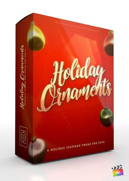 Final Cut Pro X theme Holiday Ornaments