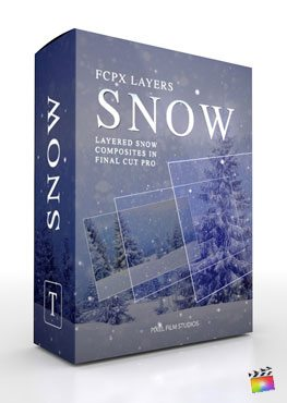 Final Cut Pro X Plugin FCPX Layers Snow from Pixel Film Studios