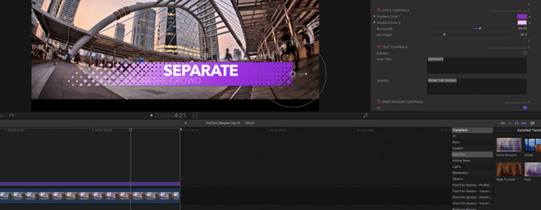 Geometric Lower Thirds for FCPX