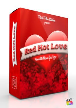 Final Cut Pro X Theme Red Hot Love from Pixel Film Studios