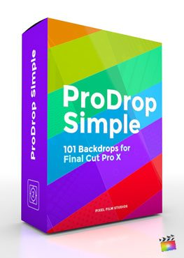 Final Cut Pro X Plugin ProDrop Simple from Pixel Film Studios