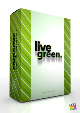 Final Cut Pro X Theme Live Green from Pixel Film Studios