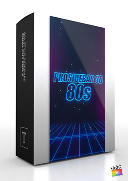Final Cut Pro X Plugin ProSidebar 3D 80s from Pixel Film Studios