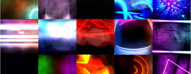Electric Nightlife Backdrops for FCPX