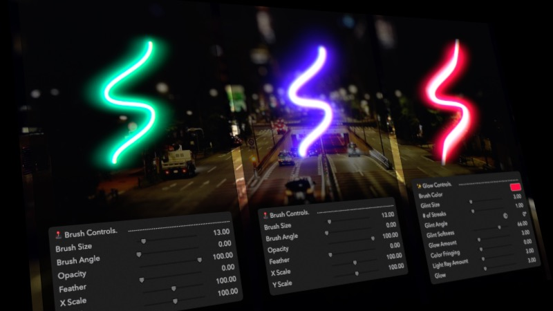 FCPX-Brush-Glow-Email-Controls - Final Cut Pro X and Motion