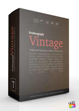 Final Cut Pro X Plugin ProParagraph Vintage from Pixel Film Studios