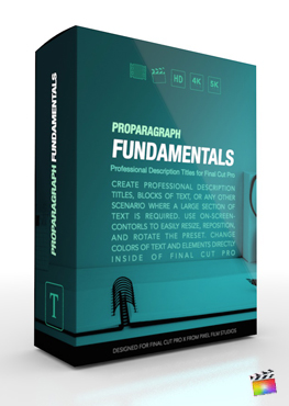 Final Cut Pro X Plugin ProParagraph Fundamentals from Pixel Film Studios