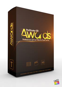 Final Cut Pro X Plugin ProDicator 3D Awards from Pixel Film Studios