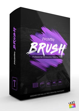 Final Cut Pro X Plugin ProIntro Brush from Pixel Film Studios