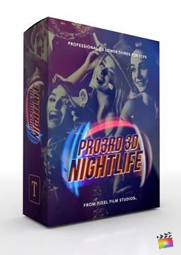 Final Cut Pro Plugin - Pro3rd 3d Nightlife from Pixel Film Studios