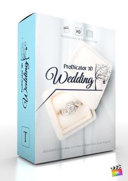Final Cut Pro X Plugin ProDicator 3D Wedding from Pixel Film Studios
