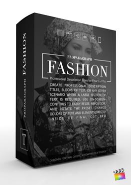Final Cut Pro X Plugin ProParagraph Fashion Volume 3 from Pixel Film Studios