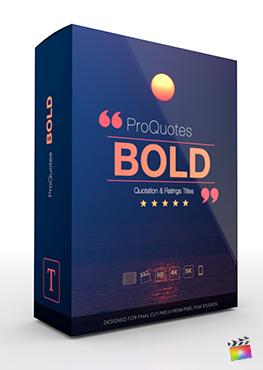 Final Cut Pro X Plugin ProQuotes Bold from Pixel Film Studios