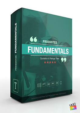 Final Cut Pro X Plugin ProQuotes Fundamentals from Pixel Film Studios