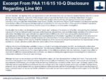 Excerpt From PAA's 10Q Disclosure Regarding Line 901