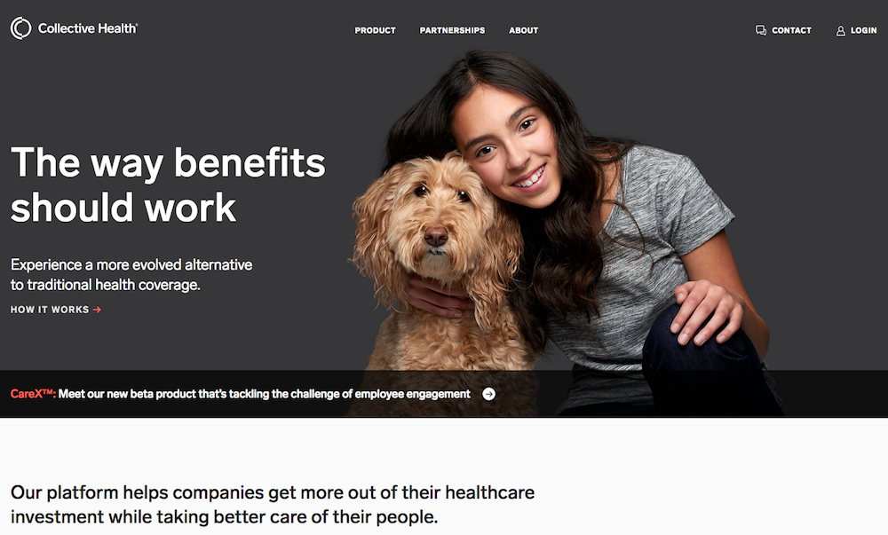 Collective Health health web design