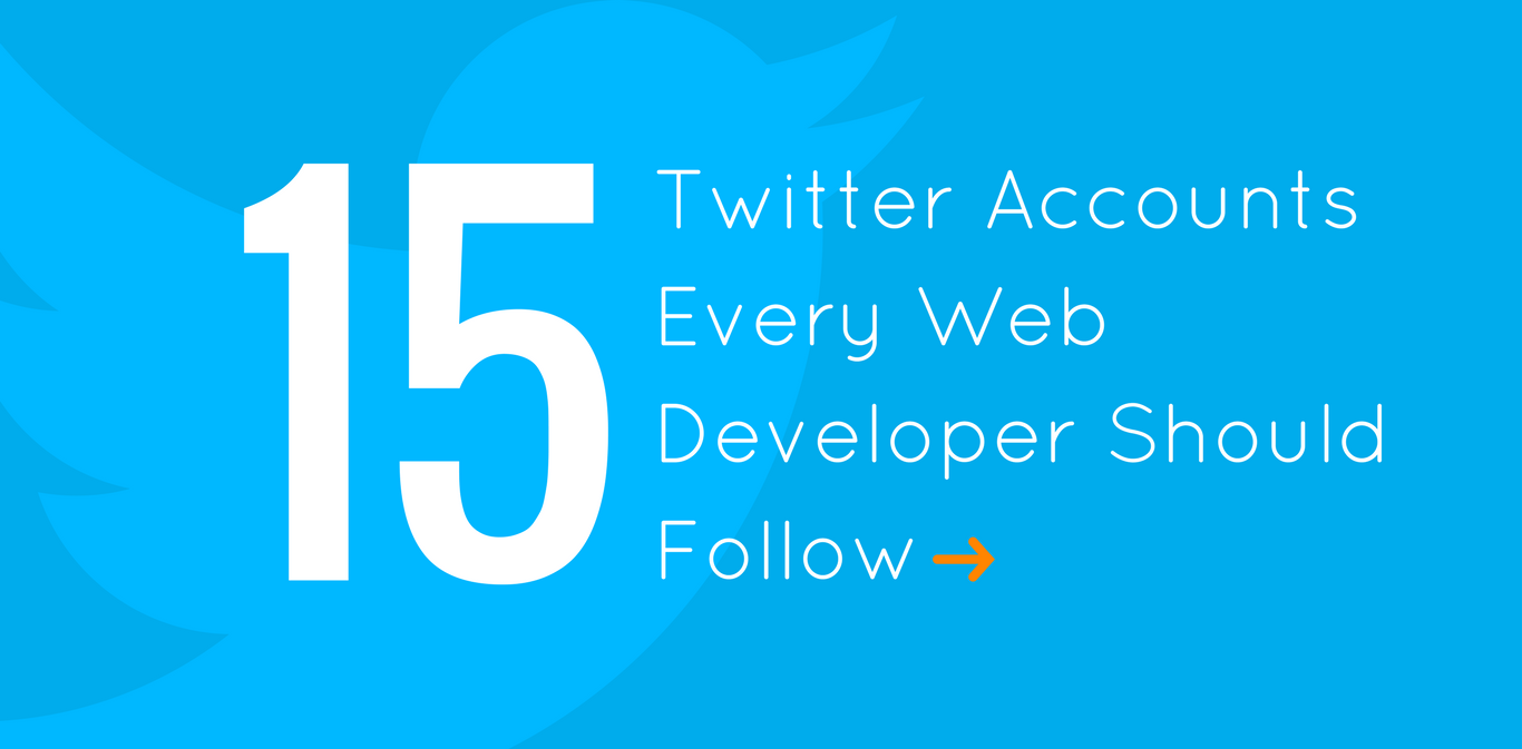 15 Twitter Accounts Every Web Developer Should Follow