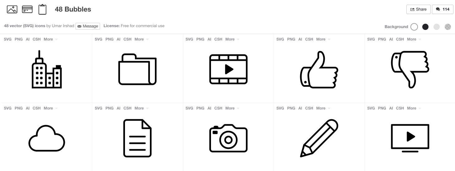 free svg icons for commercial use