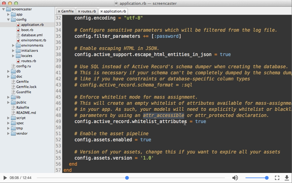 Railscast video screencasting
