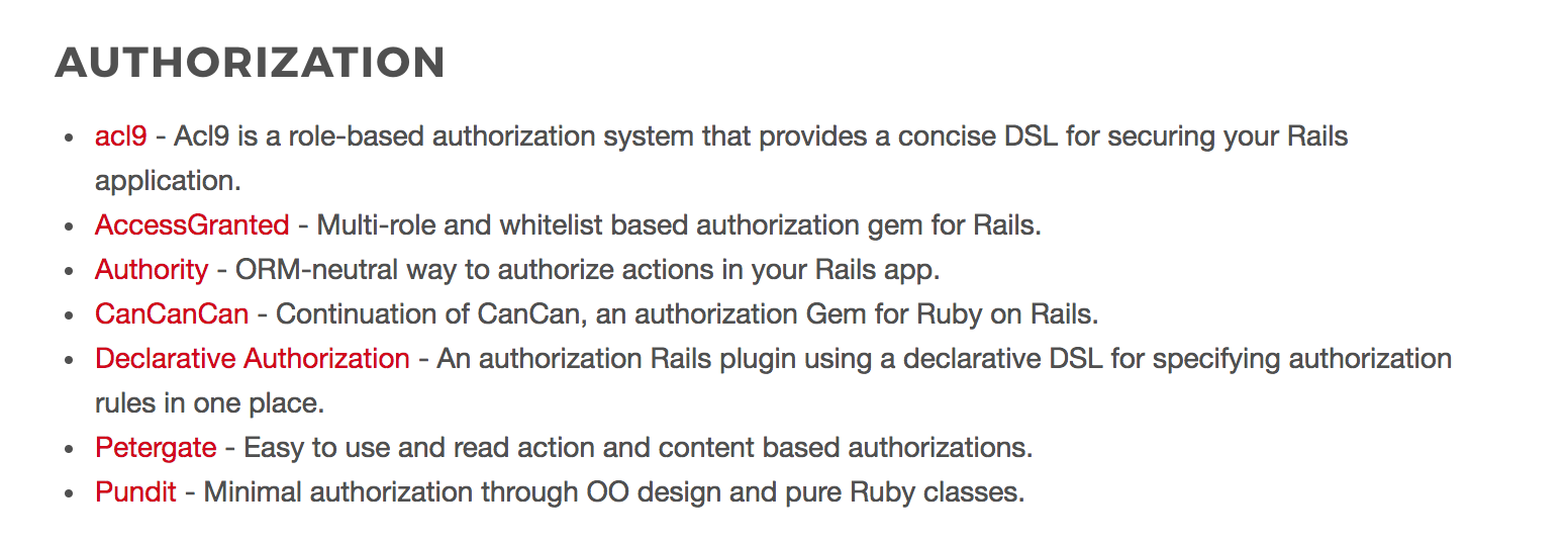 awesome ruby authorization gems