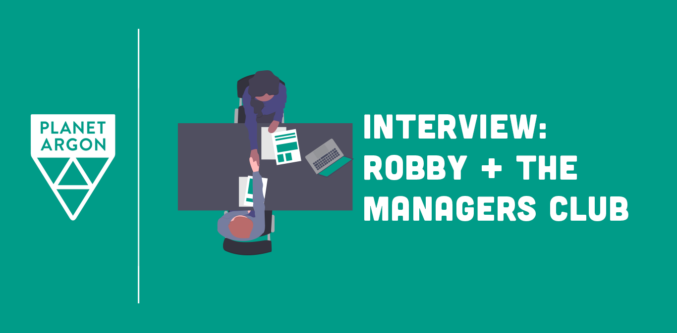 Robby Interviewed on The Managers Club
