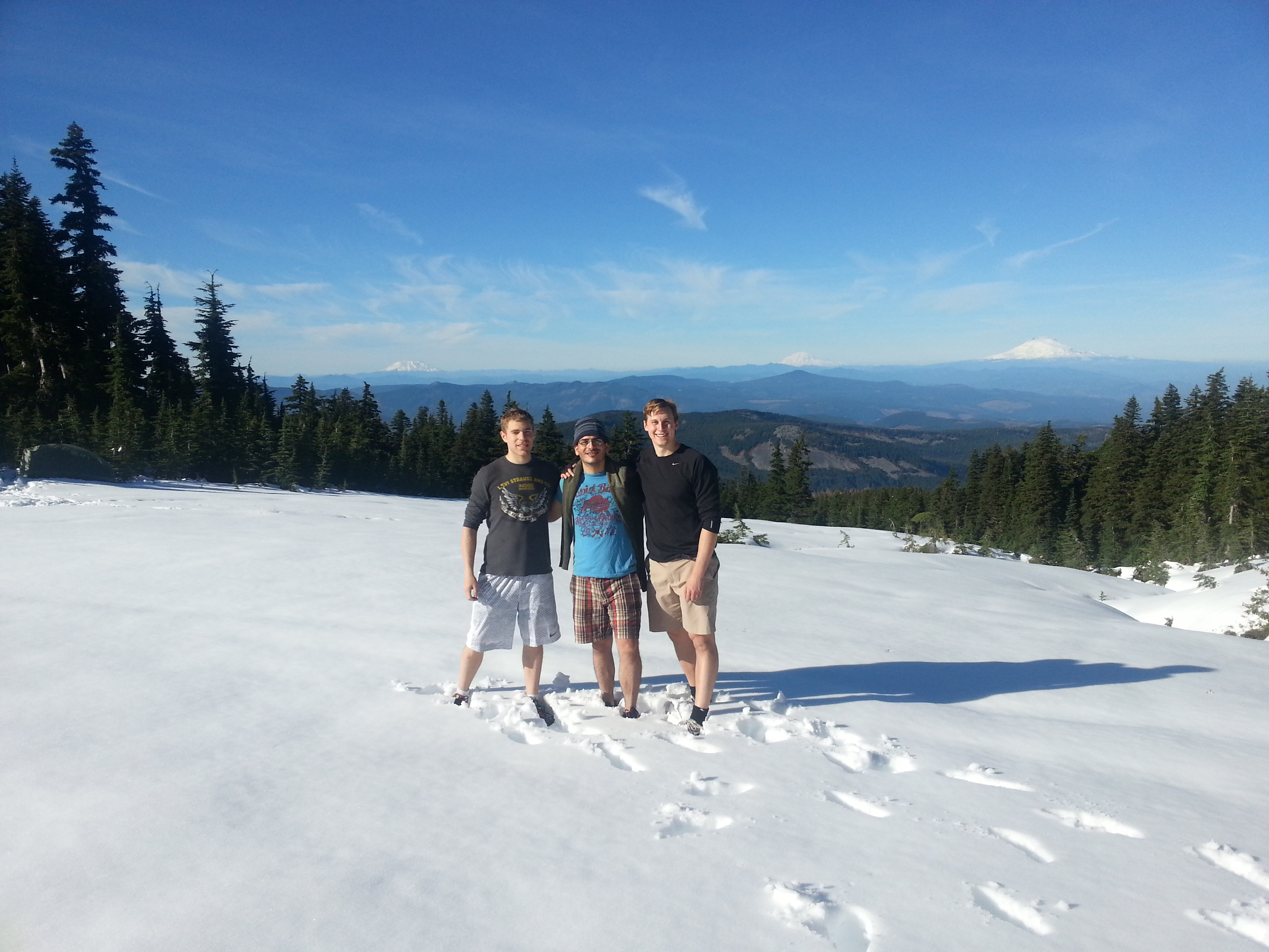 Mac Eisenberg -left- and some of his fellow Epicodus students on a hike to Mount Hood
