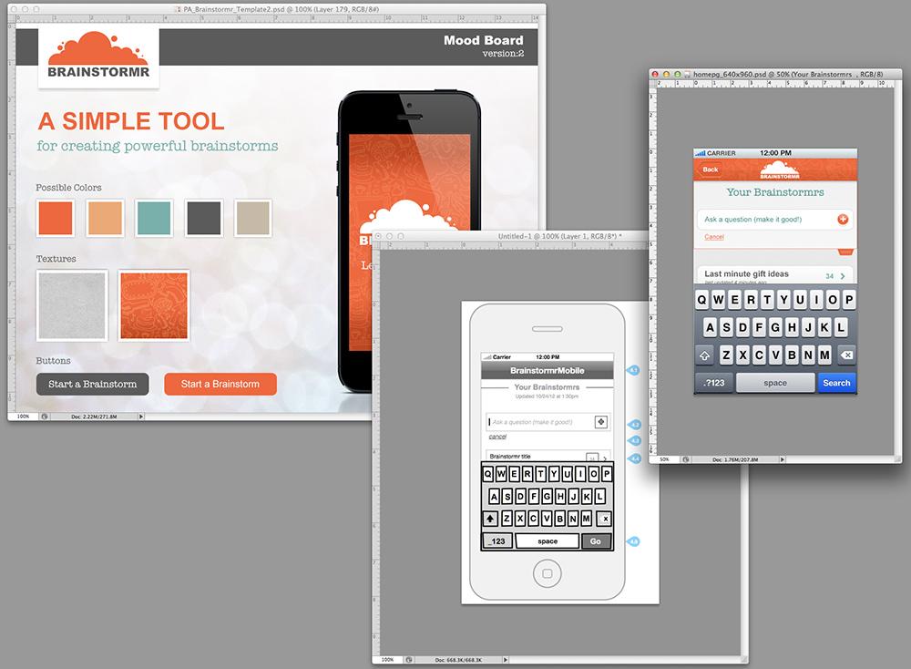 Design processes for brainstormr mobile our new iphone Building designing app