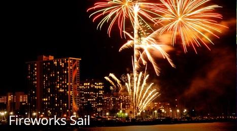 Fireworks Sail- Waikiki